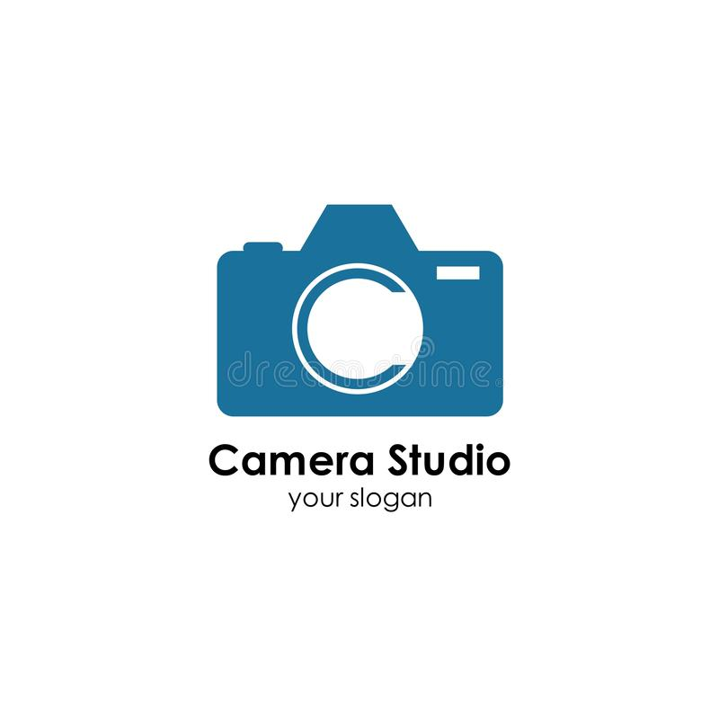 Camera logo template design vector icon illustration. Photography, photographer, lens, focus, symbol, digital, modern, technology, studio, equipment, film stock illustration
