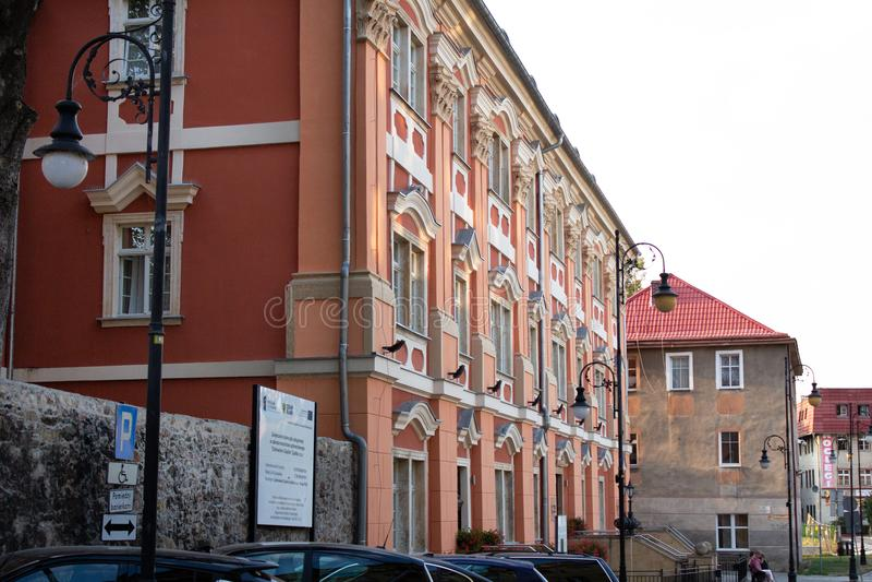Camera lunga in Cieplice Jelenia Gora Polonia Das Landge Haus 22 08 2018 fotografie stock