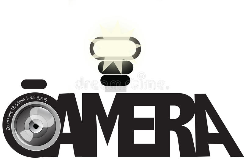 Download Camera Made Out Of The Text Camera Stock Illustration - Illustration of graphic, aperture: 27425338