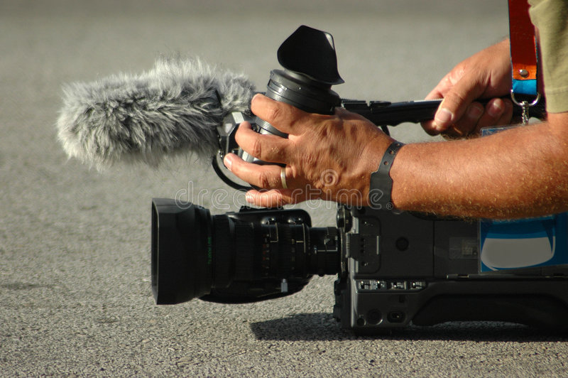 Download Camera man stock image. Image of portable, movie, holding - 2117709