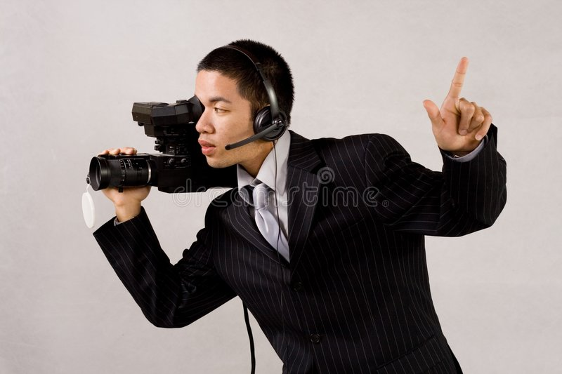 Camera man stock image