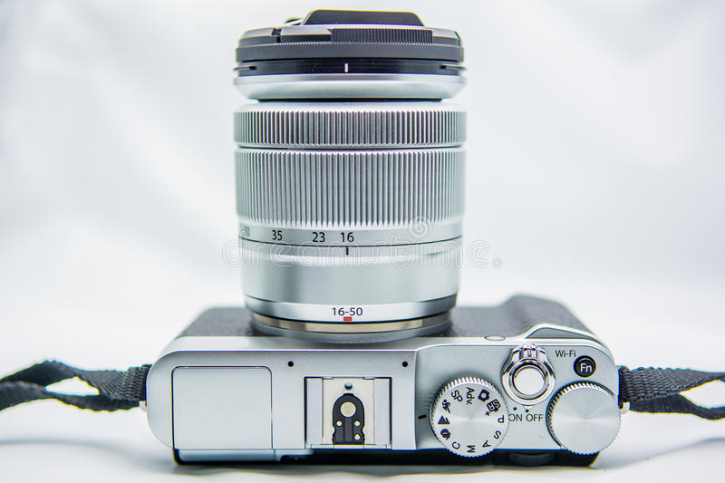 Camera. Mirroless camera is good for photographer royalty free stock photography