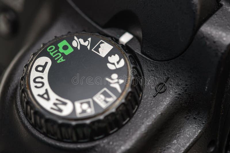 Camera mode dial stock photography