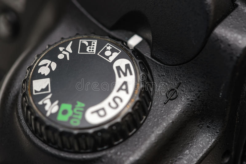 Camera mode dial stock images