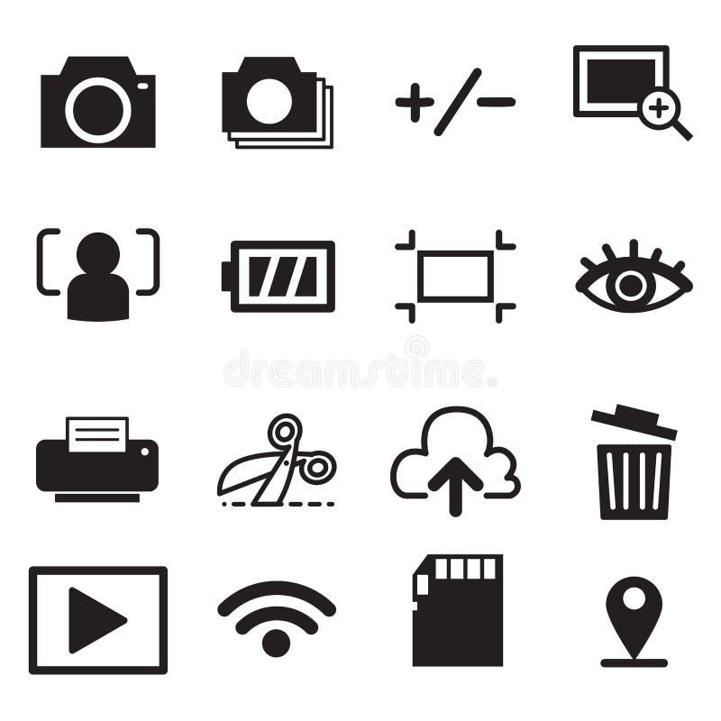 Camera mode icons illustration symbol Vector stock illustration