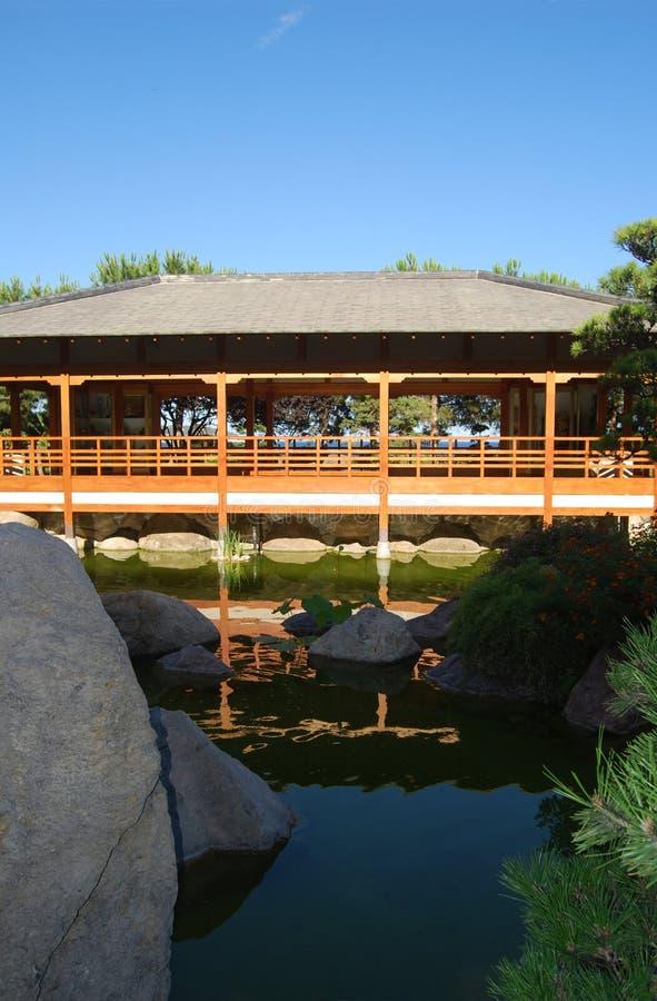 Camera nel giardino di zen fotografia stock libera da diritti