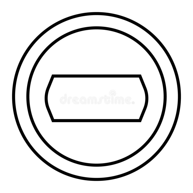 Camera objective thin line icon. Photo camera aperture vector illustration isolated on white. Lens outline style design. Designed for web and app. Eps 10 stock illustration