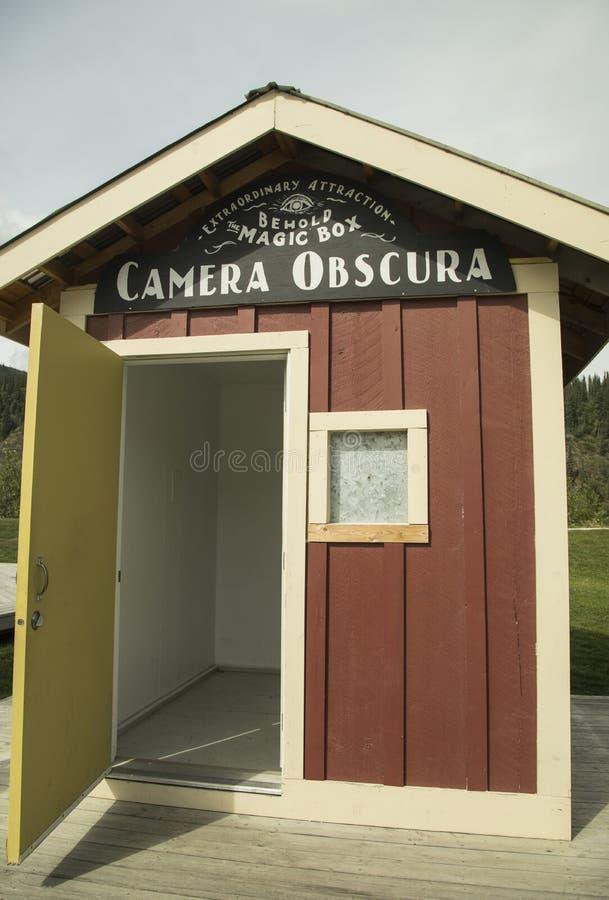 Camera obscura en Dawson City fotografía de archivo