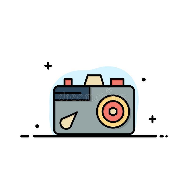 Camera, Onderwijs, Beeld, Beeldzaken Logo Template vlakke kleur stock illustratie