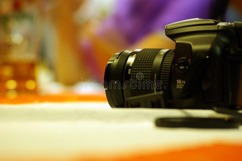 Camera op de lijst stock afbeeldingen