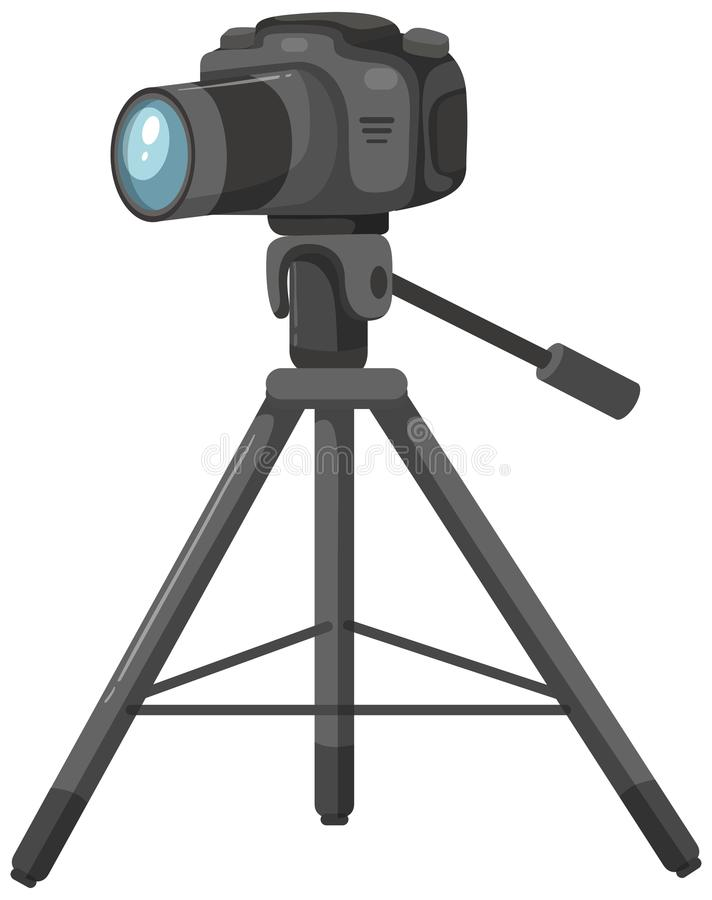 Camera op een driepoot vector illustratie