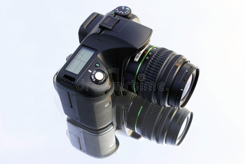 Camera op wit stock afbeelding