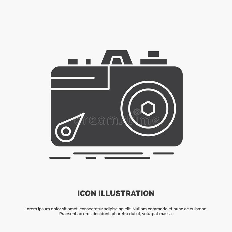 Camera, photography, capture, photo, aperture Icon. glyph vector gray symbol for UI and UX, website or mobile application. Vector EPS10 Abstract Template stock illustration