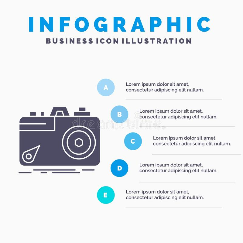 Camera, photography, capture, photo, aperture Infographics Template for Website and Presentation. GLyph Gray icon with Blue. Infographic style vector vector illustration