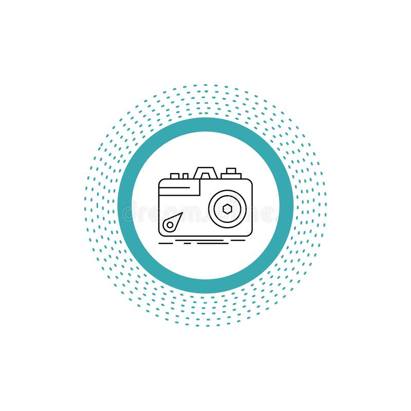 Camera, photography, capture, photo, aperture Line Icon. Vector isolated illustration. Vector EPS10 Abstract Template background vector illustration