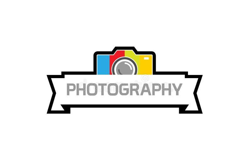 Camera Photography Colorful Device Logo royalty free illustration