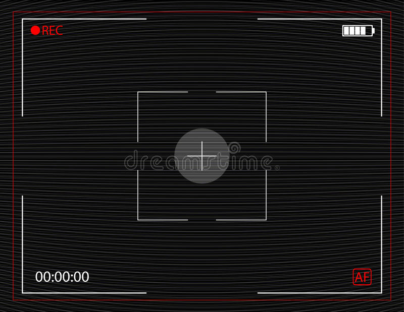 Camera recording screen with vector Analog TV Glitch moire background. No signal noise. Interference in air royalty free illustration