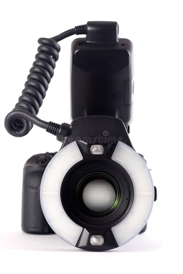 Camera with Ringflaslight royalty free stock photo