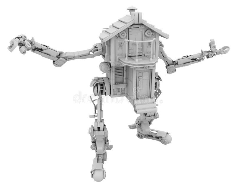 Camera robot, bianca illustrazione di stock