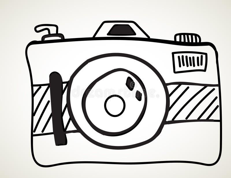 Camera - schets uit de vrije hand stock illustratie