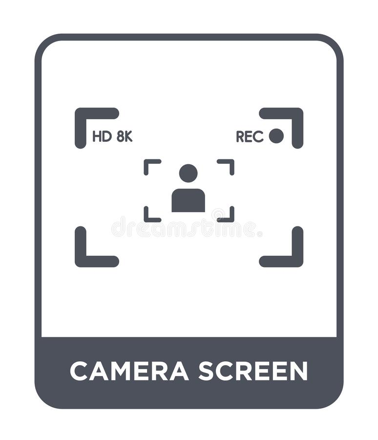Camera screen icon in trendy design style. camera screen icon isolated on white background. camera screen vector icon simple and. Modern flat symbol for web stock illustration