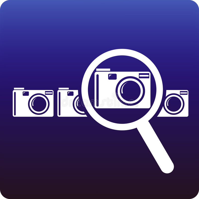 Download Camera search stock vector. Image of sell, choose, business - 4264831