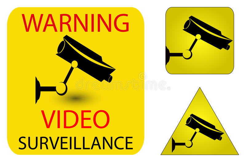 Download Camera security icons stock illustration. Image of black - 23693687