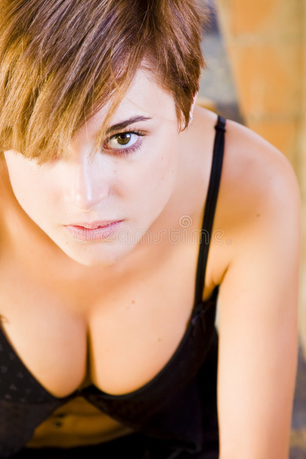 camera sensual staring woman στοκ εικόνες