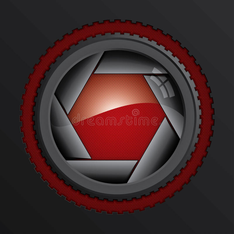 Download Camera shutter stock vector. Illustration of diaphragm - 26604357