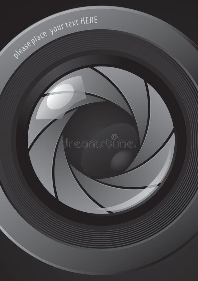 Camera shutter apertures. For a new poster design stock illustration