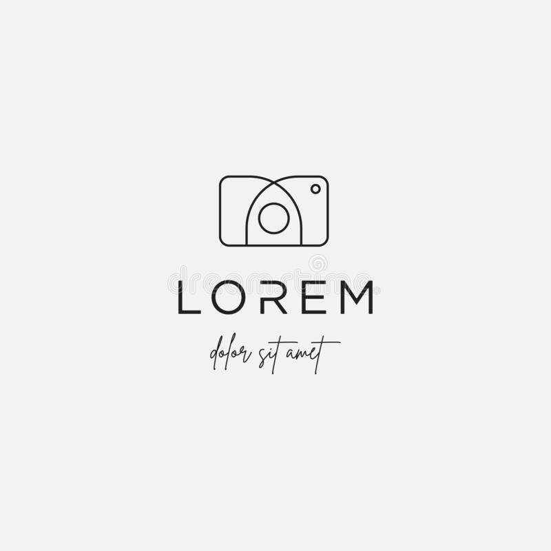 Camera Shutter logo Design Vector Illustration Icon. Camera Shutter logo Design Vector Illustration, photography, line, icon, simple, lens, technology, digital vector illustration