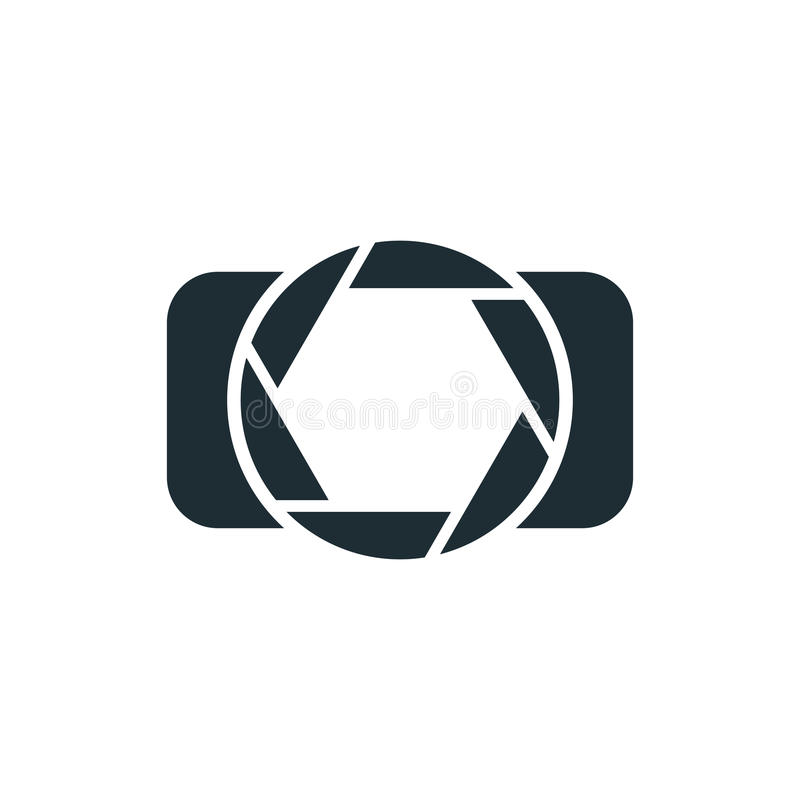 camera simple concept logo stock vector illustration of
