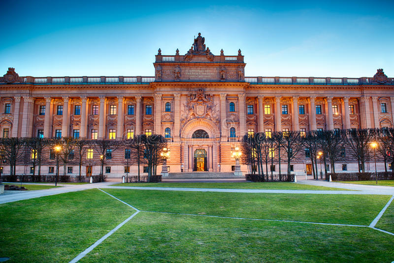 Camera svedese del Parlamento a Stoccolma immagine stock libera da diritti