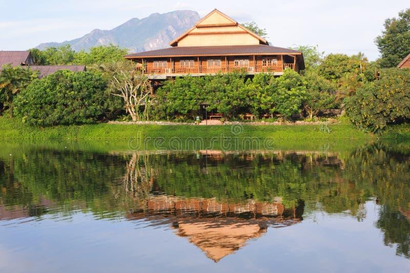 Camera tailandese tradizionale in Tailandia del nord immagini stock libere da diritti