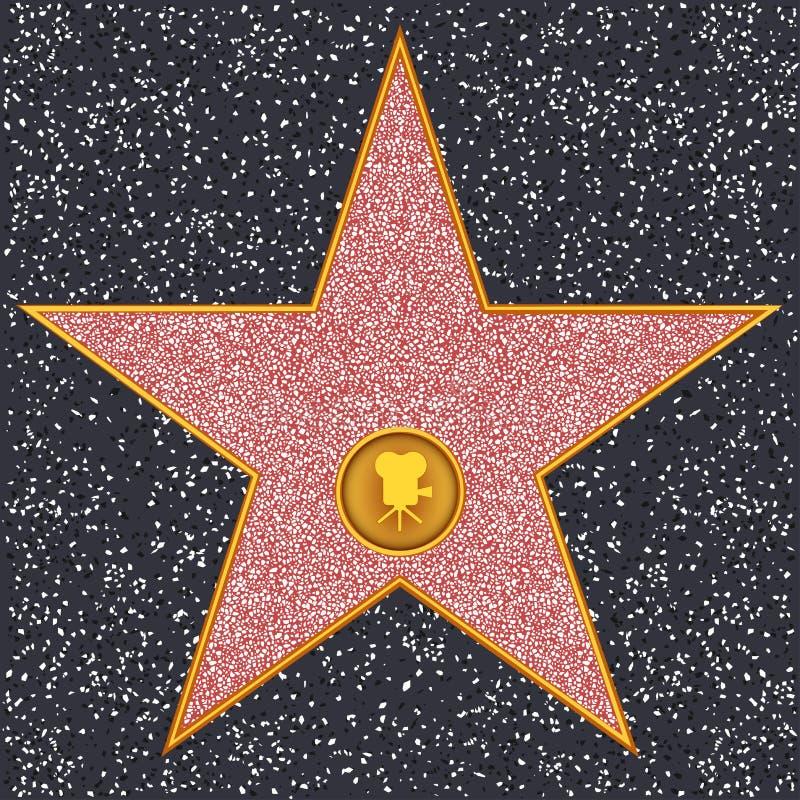 Camera van de ster de Klassieke film (Hollywood-Gang van Bekendheid) royalty-vrije illustratie