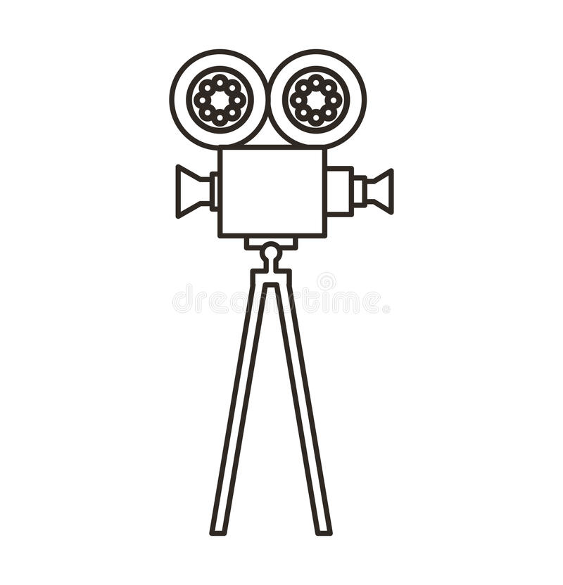 Camera video film isolated icon. Vector illustration design royalty free illustration