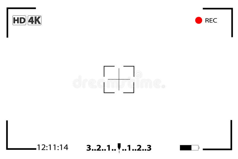 Camera view finder focusing screen vector illustration
