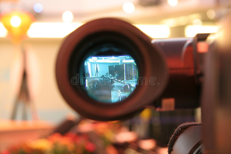 Camera viewfinder. Video camera viewfinder stock photo