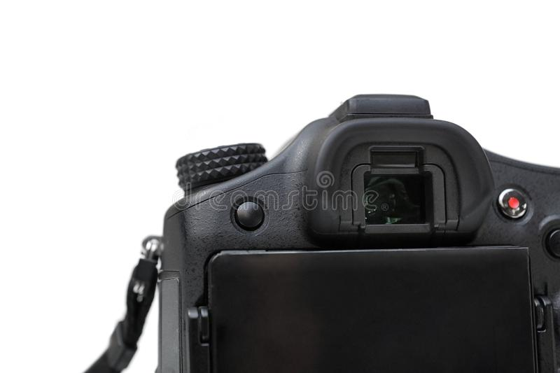 Camera viewfinder. Isolated on white background royalty free stock photography