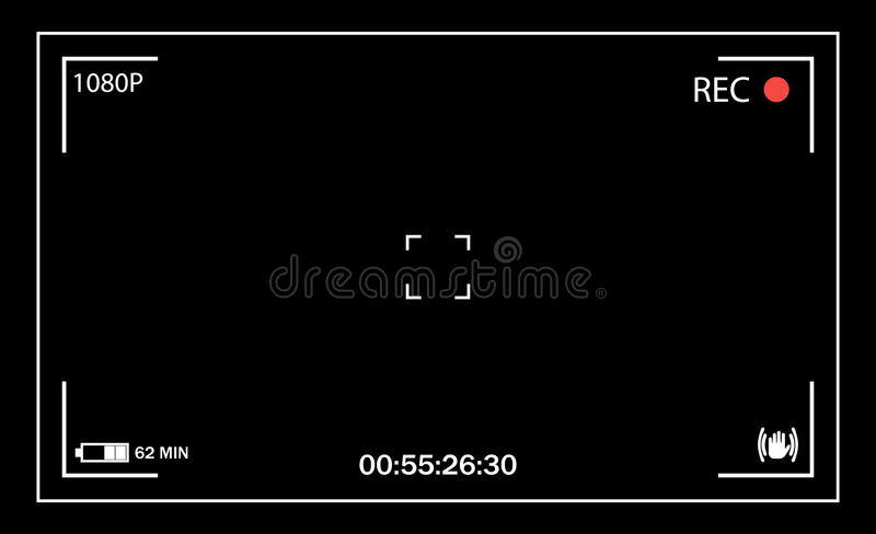 Camera viewfinder. user interface vector illustration
