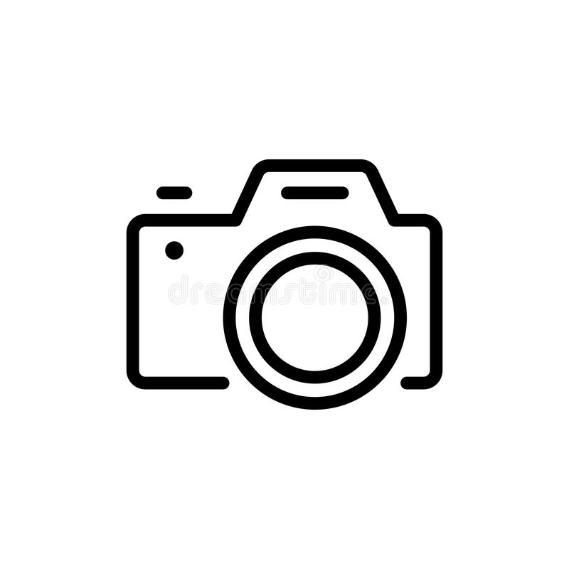 Camera vlak pictogram stock illustratie