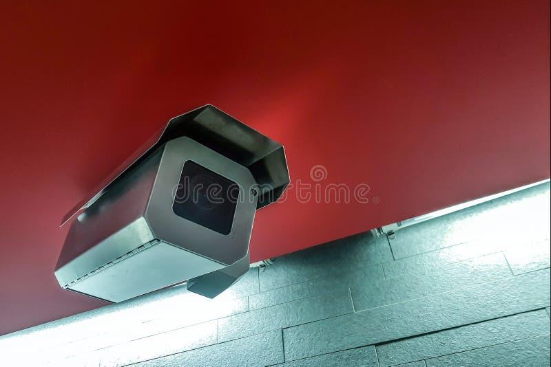 Camera voor videotoezicht Videcams in openbare ruimten voor veiligheid royalty-vrije stock foto's