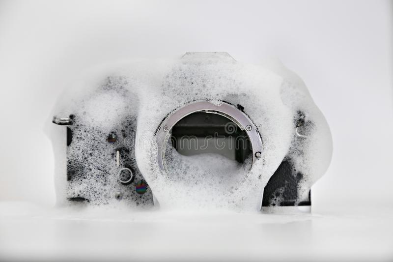 Wash camera royalty free stock photography