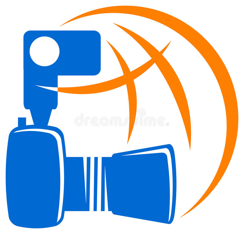 Download Camera with world stock vector. Image of image, close - 22370799