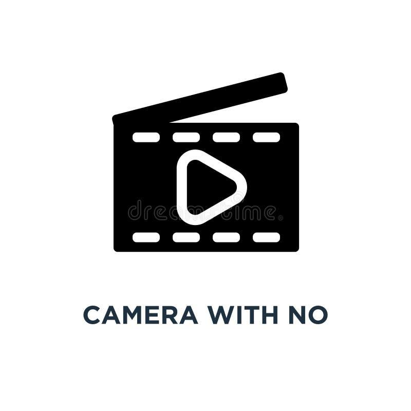camera zonder foto'spictogram het ontwerp van het het conceptensymbool van de cameranadruk stock illustratie