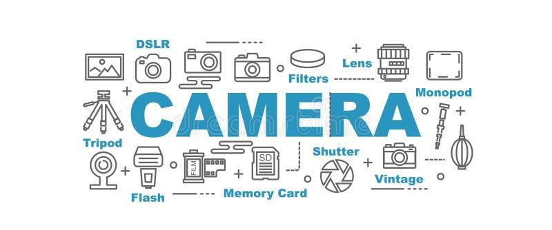 Camerabanner royalty-vrije illustratie