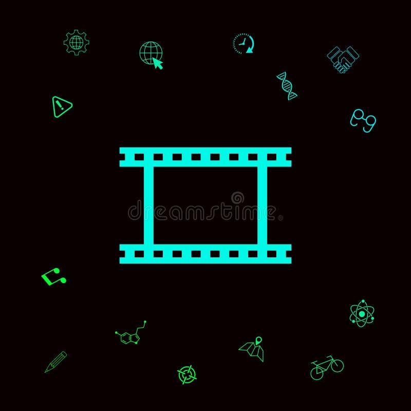 Camerabroodje, fotografische film, het symboolpictogram van de camerafilm royalty-vrije illustratie