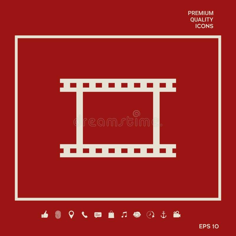 Camerabroodje, fotografische film, het symboolpictogram van de camerafilm vector illustratie