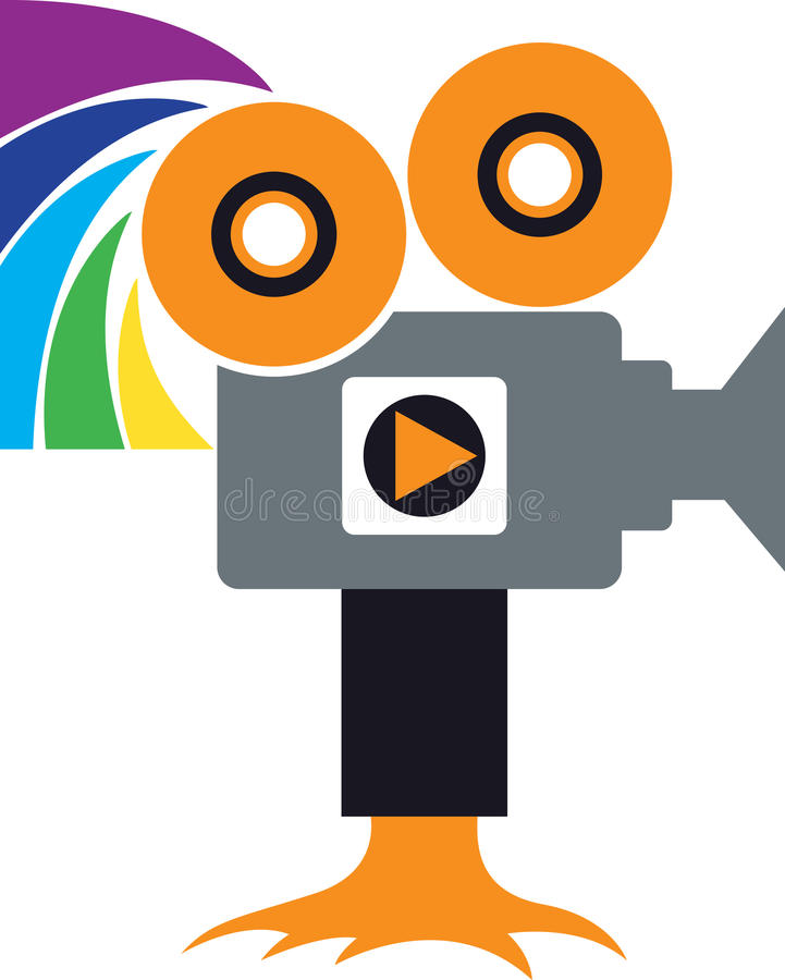 Cameraembleem royalty-vrije illustratie