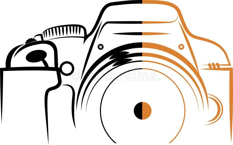 Cameraembleem stock illustratie